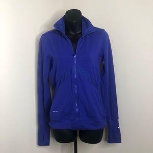 Nike drift jacket purple with thumb holes size S